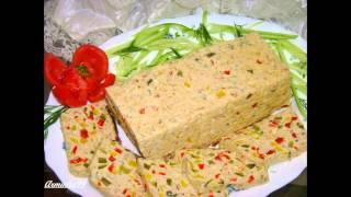 Холодные закуски мясные:Куриный террин или мясной хлебец