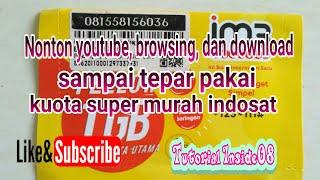 Gambar cover Nonton youtube, browsing, dan download sampai tepar pakai kuota super murah indosat