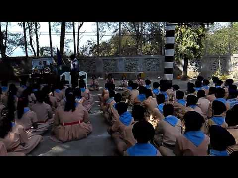 Christ jyoti school shanti path by scout guide students. And camera man is Abhishek