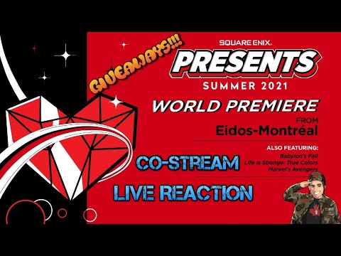 Square Enix Presents Summer Showcase 2021 Live Reaction #Giveaway #E32021 #SquareEnixPresents