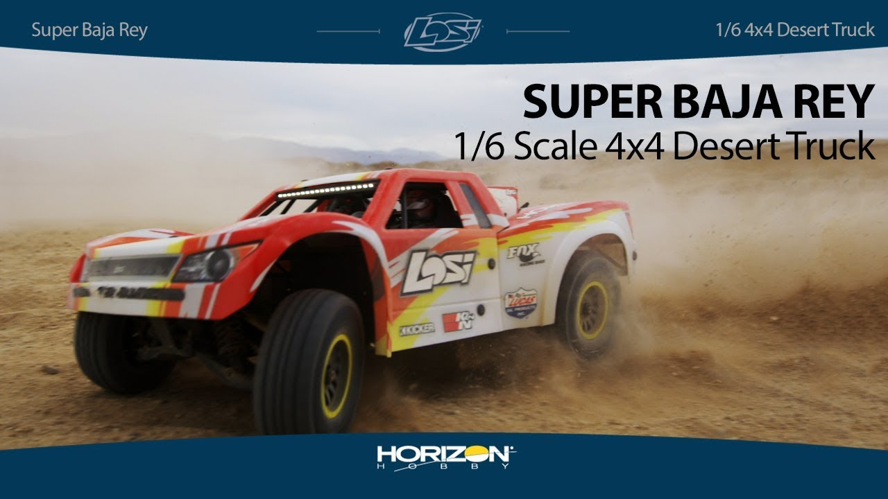 Losi 1/6 Super Baja Rey 4WD Desert Truck Brushless RTR with AVC