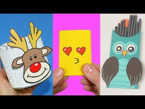 66 DIY School Supplies | Easy DIY Paper crafts ideas