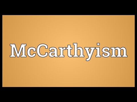 McCarthyism Meaning