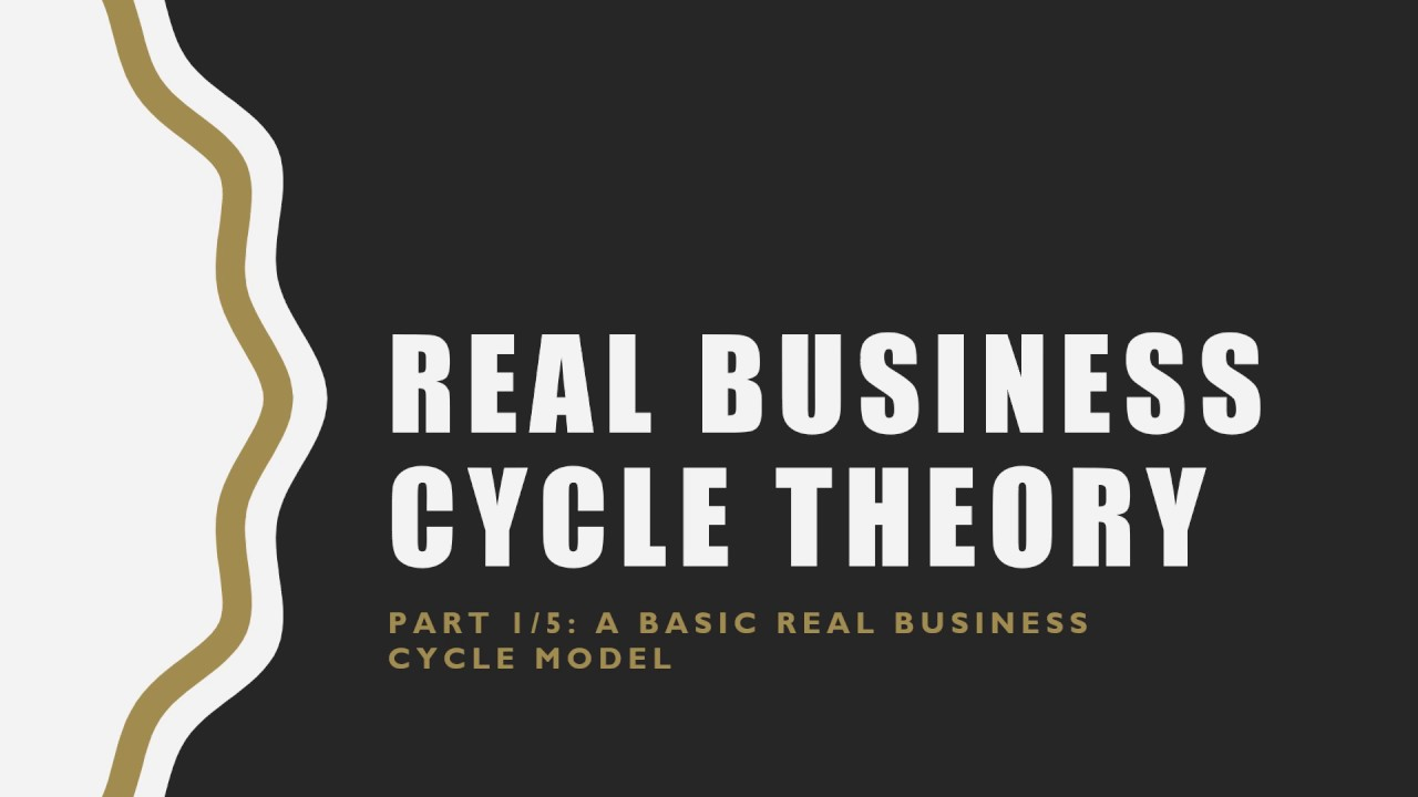 Real Business Cycle Theory Part 1/5: A Basic Real Business Cycle Model