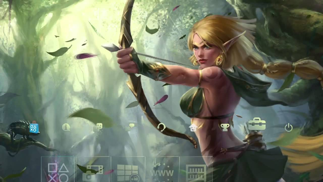 elven archer eve dynamic theme full hd youtube