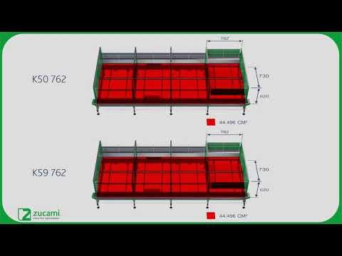 Клетки улучшенной конструкции для кур несушек - модель MEC