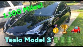 Taking a Tesla Model 3 on an 1,100 Mile Road Trip