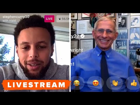 Watch Steph Curry and Dr. Anthony Fauci discuss COVID-19 pandemic - Livestream