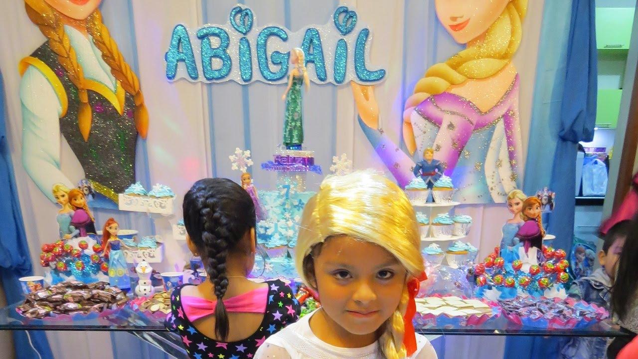 Fiesta infantil decoracion frozen cumplea os abigail - Adornos fiesta de cumpleanos ...