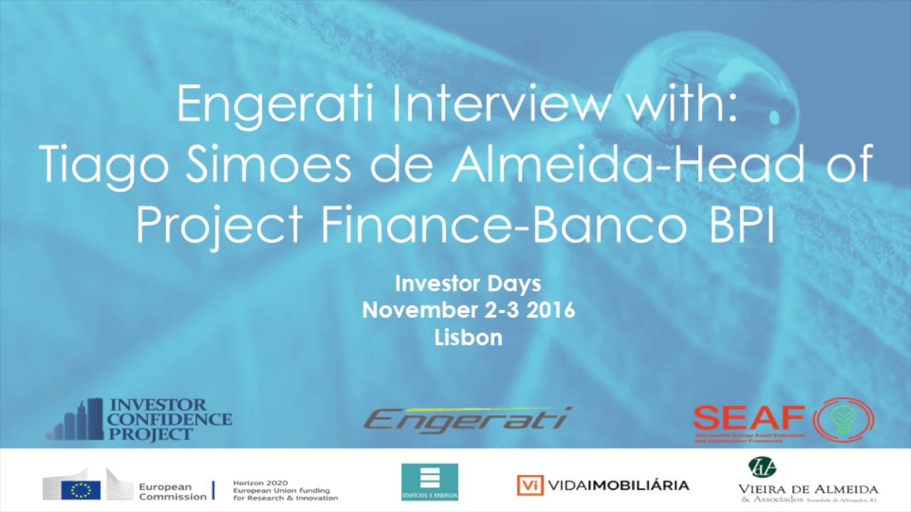 Tiago Simoes de Almeida, Head of Project Finance, Banco BPI