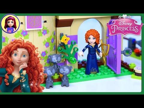 Lego Disney Princess Merida's Brave Highland Games Castle Set Build Review Play - Kids Toys