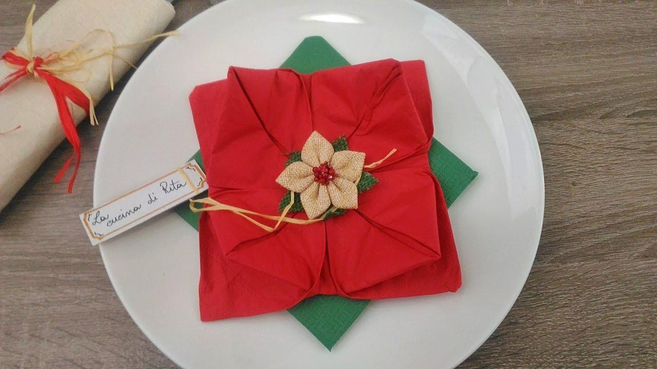Come Piegare Un Tovagliolo A Forma Di Stella Di Natale Segnaposto Natalizio