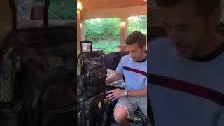 TUMI Luggage, Backpack, Waist Bag, & Shoulder Sling Bag - All Grey, Black, & Green Camo