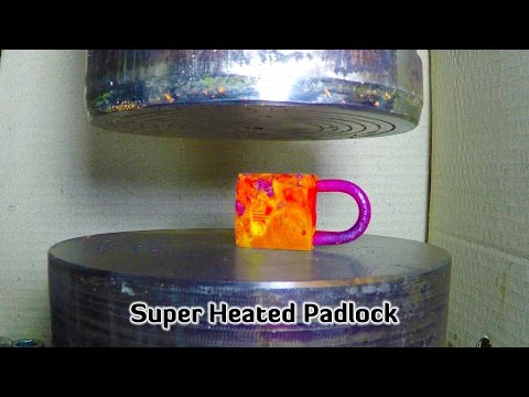 Hydraulic Press | Small Super Heated Padlock
