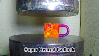 Hydraulic Press | Small Super Heated Padlock thumbnail