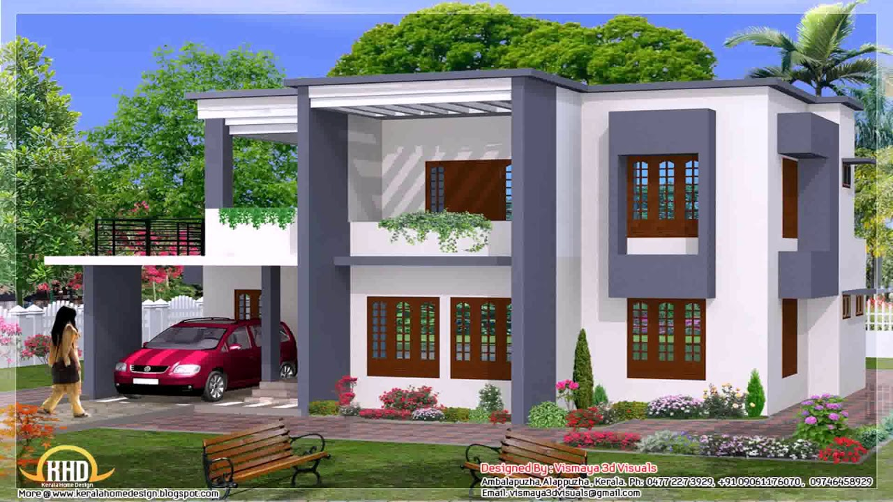 Modern two story house plans in sri lanka youtube for Contemporary house plans two story