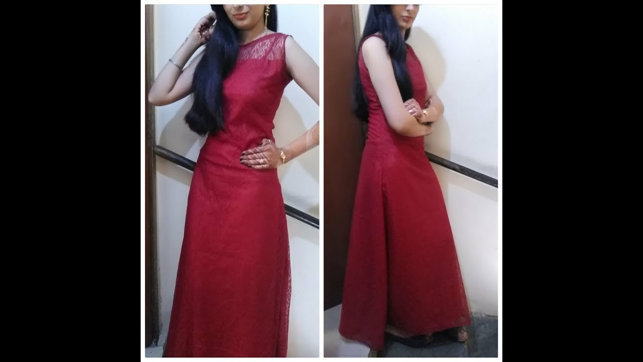 Designer Fish Cut Gown Cutting And Stitching Youtube