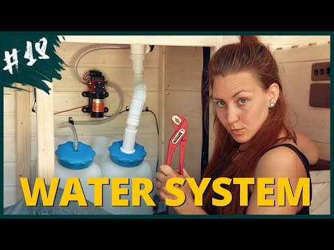Super simple RUNNING WATER for your van | Van Build #18