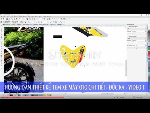 Hướng dẫn thiết kế tem xe máy oto đức ka - video 1
