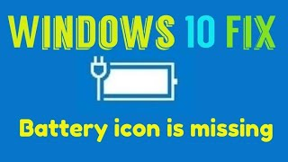 How to fix the problem of power not showing in windows 10