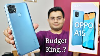 OPPO A15 Unboxing and Review🔥 Triple Camera 📸  4230 mAh🔋  10000 Rs 💰 दमदार लुक