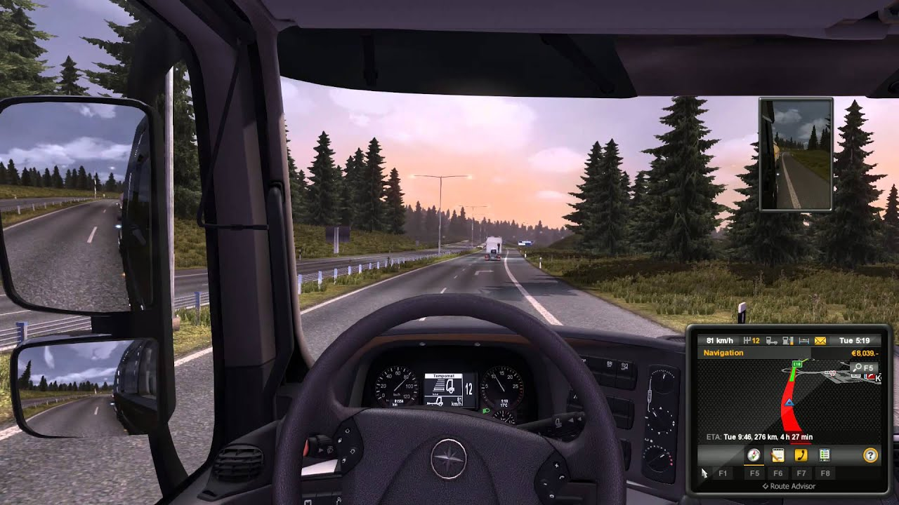 euro truck simulator 2 v1 w scandinavia mod. Black Bedroom Furniture Sets. Home Design Ideas