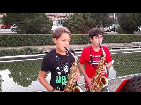 Stand By Me Ben E King Sax Alto Gabry & Fabio Live In Rome