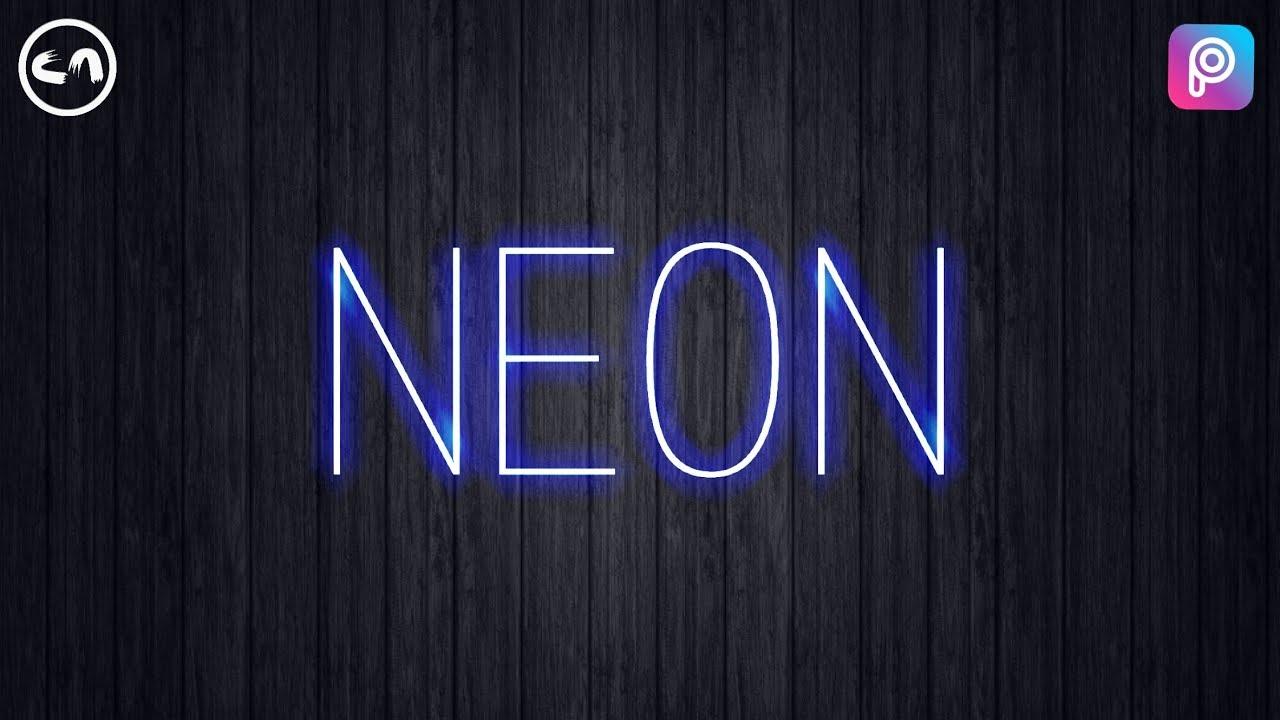 neon text effect picsart tutorial