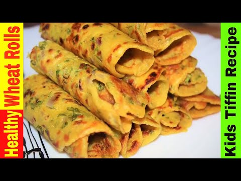 Wheat Flour Rolls | Healthy Tiffin Recipe | breakfast recipes easy and quick | Wheat dosa