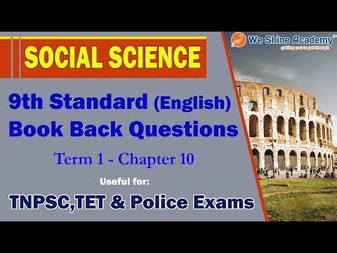 9th Std Social Model Questions English Term 3 Chapter 10