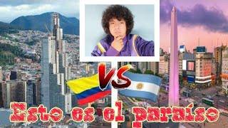ciudades ARGENTINAS  vs ciudades COLOMBIANAS ( 2 gigantes de AMERICA)