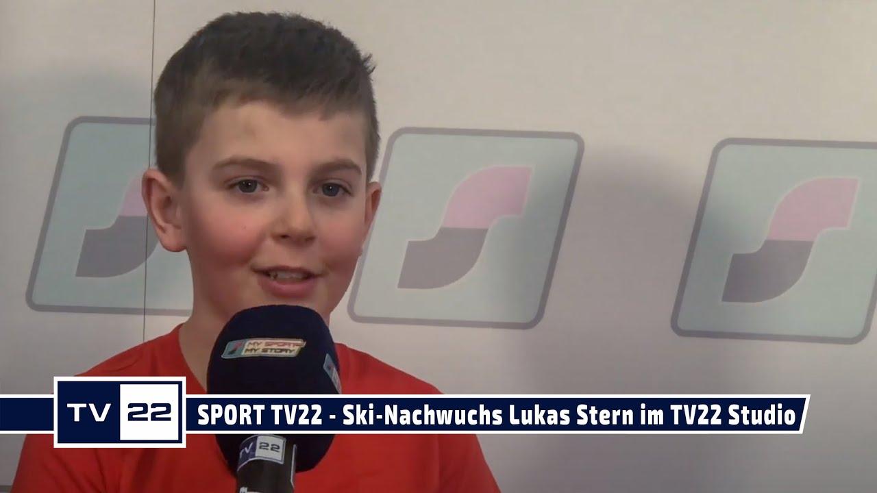 SPORT TV22: Der junge Ski-Fahrer Lukas Stern im TV22 Studio