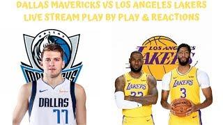 Dallas Mavericks Vs. Los Angeles Lakers Live Stream Play