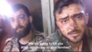 Syrian soldiers tortured and executed by US backed 'Rebels' in #Aleppo