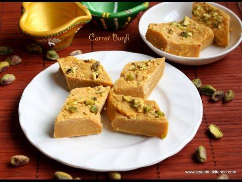 by ethnico-Carrot burfi recipe - Diwali sweet recipes