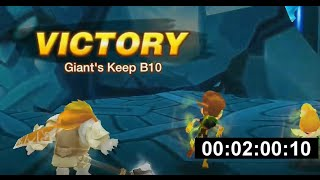 giants b10 full auto 2 minute speed run summoners war 100 success rate
