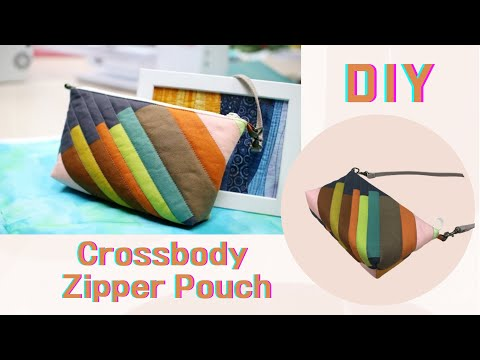 【DIY】有掛耳設計,方便更換提把的多功能拉鍊包 斜背肩背二用包  初級者可學習 Cute Crossbody quilted zipper bag sewing for beginners