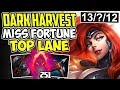 DARK HARVEST MISS FORTUNE TOP LANE | WTF IS THIS? NEW META ADC TOP S8 MF Gameplay League of Legends