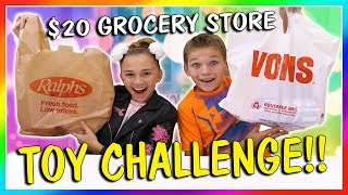 $20 GROCERY STORE TOY CHALLENGE | We Are The Davises
