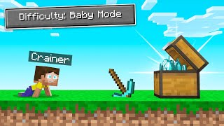 Playing MINECRAFT As A BABY! (Easiest Difficulty)