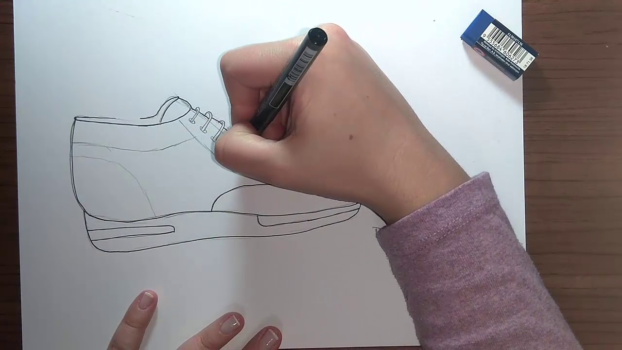 Spor Ayakkabi Cizimi 1 Shoe Drawing Youtube
