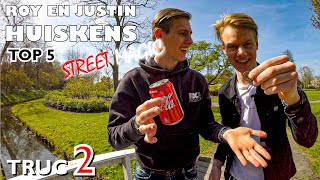 MUNT IN COLA BLIKJE - STREET MAGIC TOP 5 - TRUC 2 | ROY EN JUSTIN HUISKENS