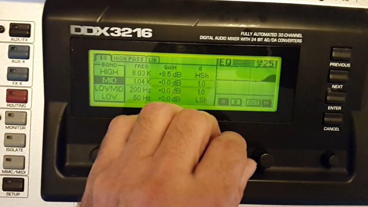 Download Mesa de Som Behringer DDX 3216