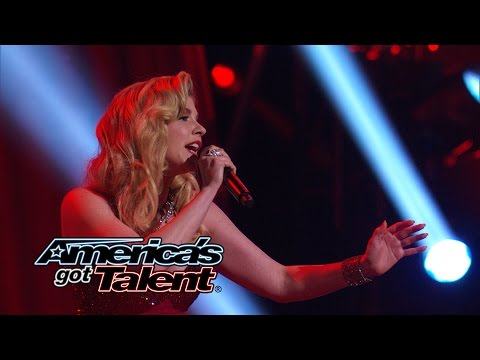 """Emily West: Singer Performs """"Chandelier"""" by Sia Cover - America's Got Talent 2014 Finale"""