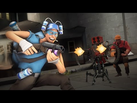 TF2 Multiplied By Ten! Machine Gun Knife, I Can Fly!