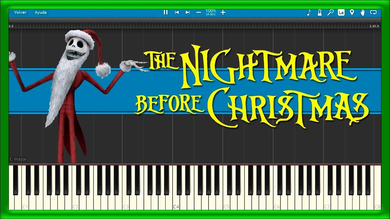 The Nightmare Before Christmas - Theme Song (Piano Tutorial) - YouTube