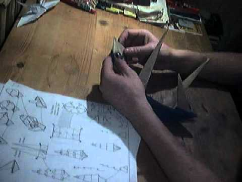 Making Of Full Rigged Origami Ship Youtube