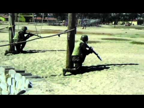 Mike Company Marine demonstrate Bayonet Assault Course for Educators II