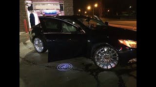 """2011 Buick Regal on 22"""" rim and lights"""