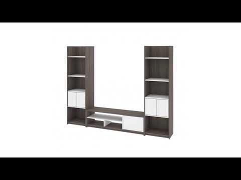 Bestar Small Space TV Stand and Storage Towers
